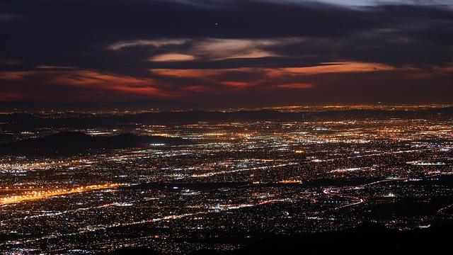 Inland Empire Valley, Sunset, San Bernardino Mountains