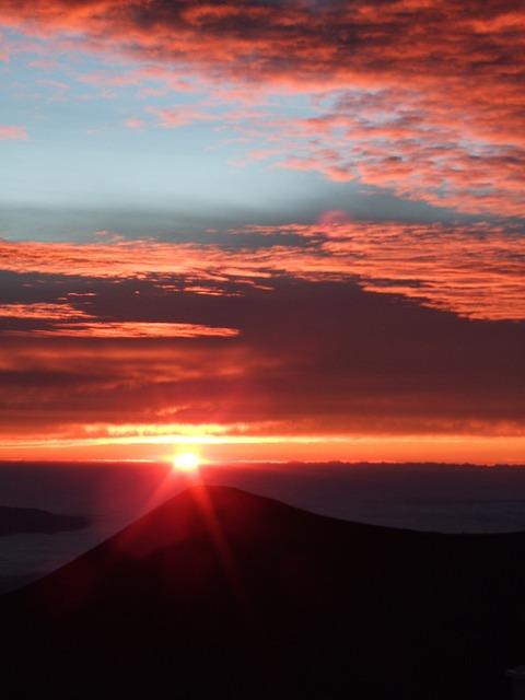Mauna Kea, Summit, Top, Sunset, Island Of Hawaii