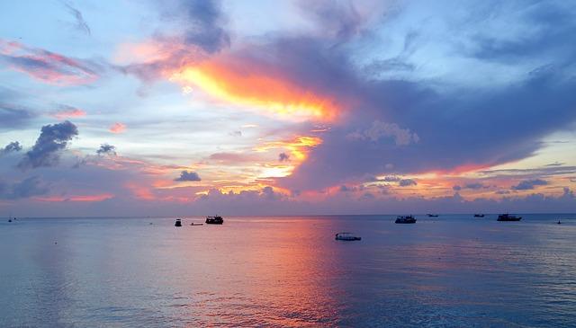 Koh Tao, Sunset, Thailand, Sea, Beach, Koh, Ocean