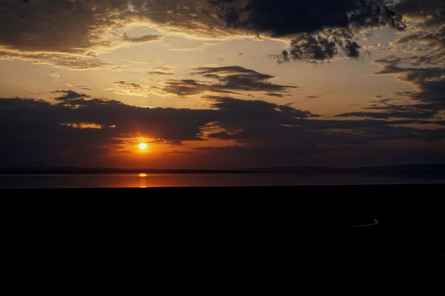 Salt Lake, Lake, Ankara, Turkey, Sunset