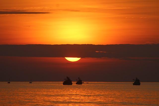 Sunset, Beach, Landscape