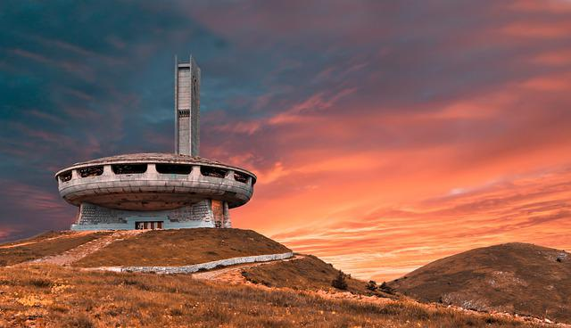 Monument, Landscape, Sunset