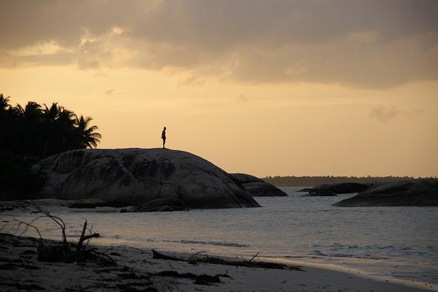 Waters, Sunset, Sea, Beach, Landscape, Sri Lanka