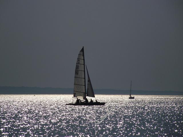 Hungary, Lake Balaton, Sunset, Light, Water, Landscape
