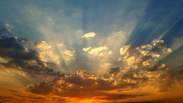 Free Photo Sunset Light Sun Clouds Afternoon Rays Sky