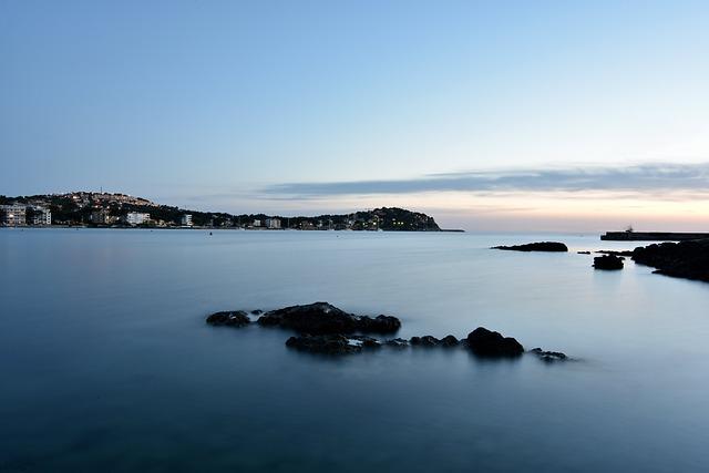 Mallorca, Night, Beach, Water, Spain, Sunset