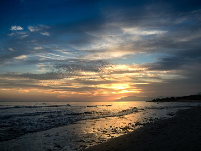 Sunset, Cabopino, Marbella, Malaga, Spain, Sky, Sea