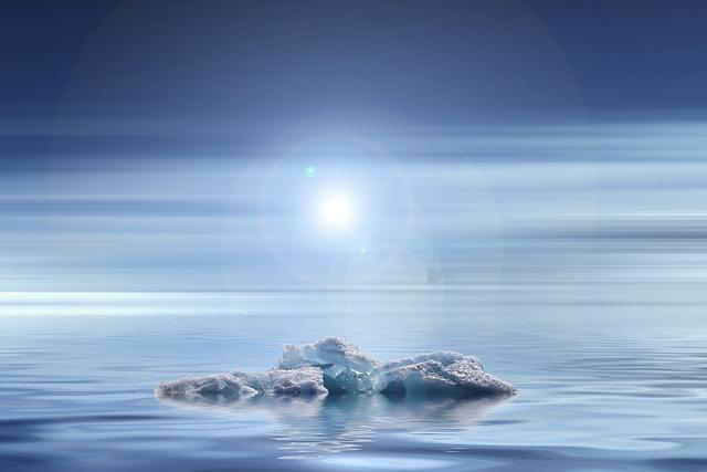 Sunset, Climate Change, Iceberg, Glacier, Melt