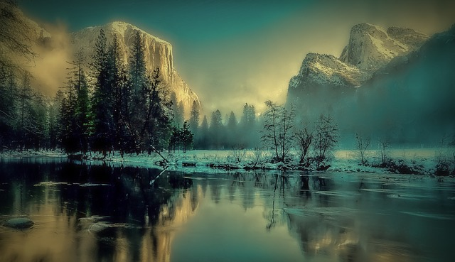 Yosemite Park, Landscape, Sunrise, Sunset, Mountains