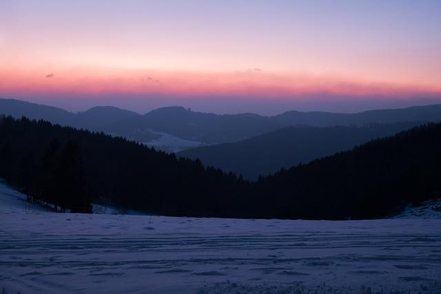 Nature, Mountain, Landscape, Sunset, Winter