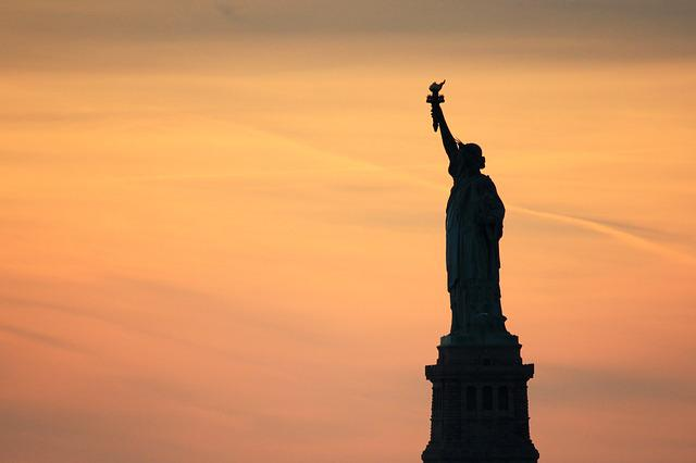 Statue Of Liberty, New York, Sunset, United States