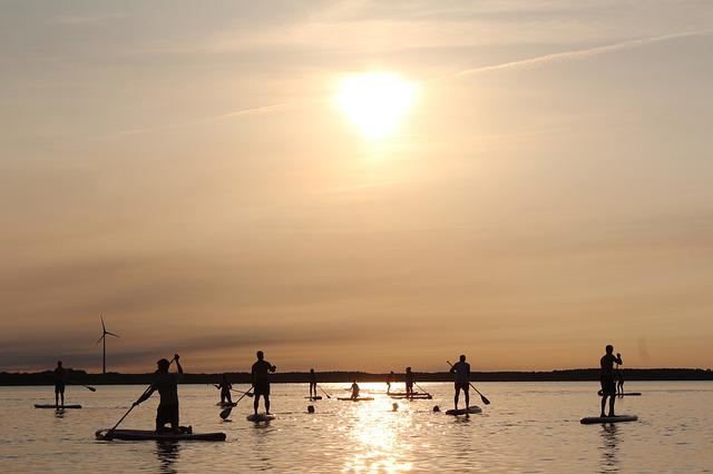 Stand Up Paddle, Paddle, Sunset