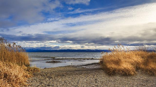 Lake Constance, Immenstaad, Sunset, Panorama, Nature