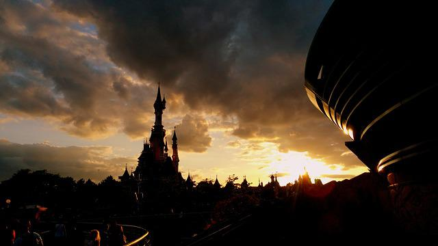 Disneyland, Paris, Sunset