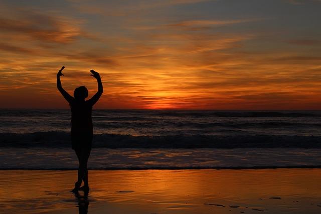 Dance, Sunset, Abendstimmung, Sunset Sea, Sea, Sky