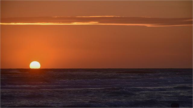 Sunset, Water, Sea, Beach, Setting Sun, Italian