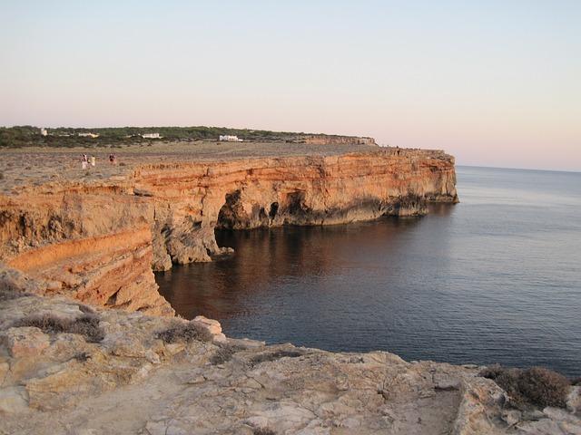 Cliff, Formentera, Sunset September