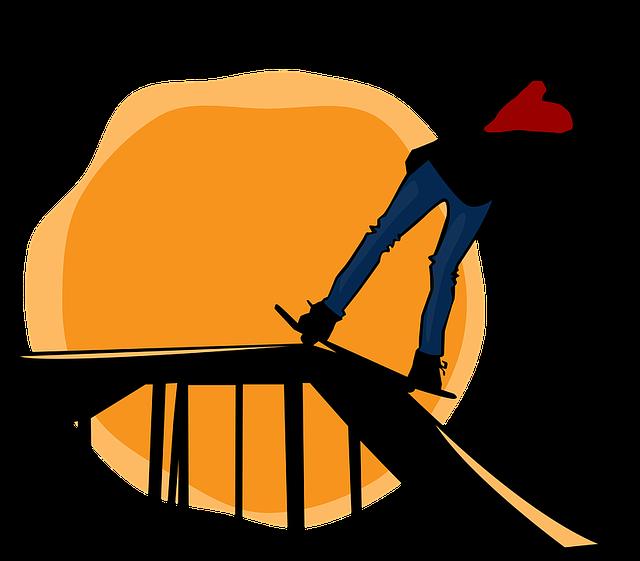 Skater, Skateboard, Sunset, Sun, Ramp, Silhouette