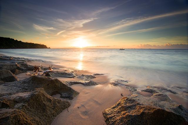 Free Photo Sunset Sky Beautiful Summer Beach Background Max Pixel