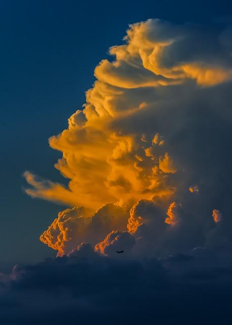 Cloud, Sunset, Colors, Glowing, Evening, Cumulus, Sky
