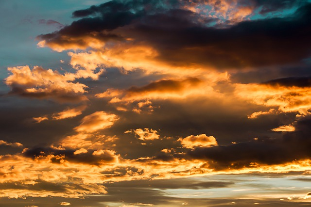 Evening Sky, Sky, Clouds, Light, Sunset, Abendstimmung