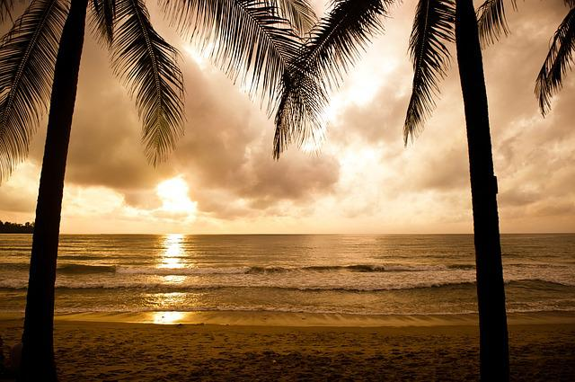 Beach, Phuket, Nature, Sea, Sunset, Sky, Sun