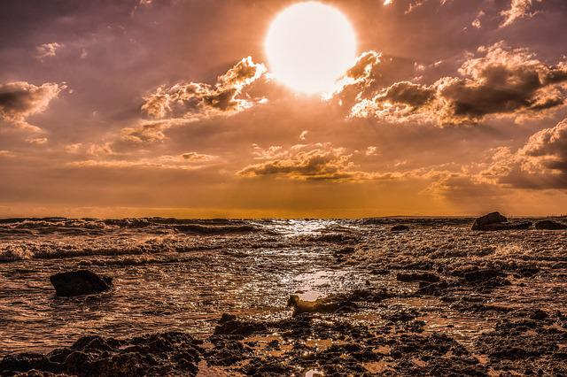 Sunset, Sea, Sky, Sun, Nature, Clouds, Horizon
