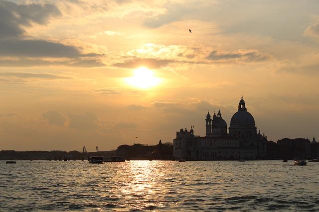 Venice, Skyline, Sunset, Water, Sea, St Mark's, Veneto