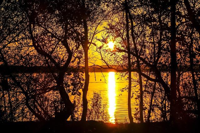 Steinhuder Sea, Sea, Landscape, Sunset, Nature, Water