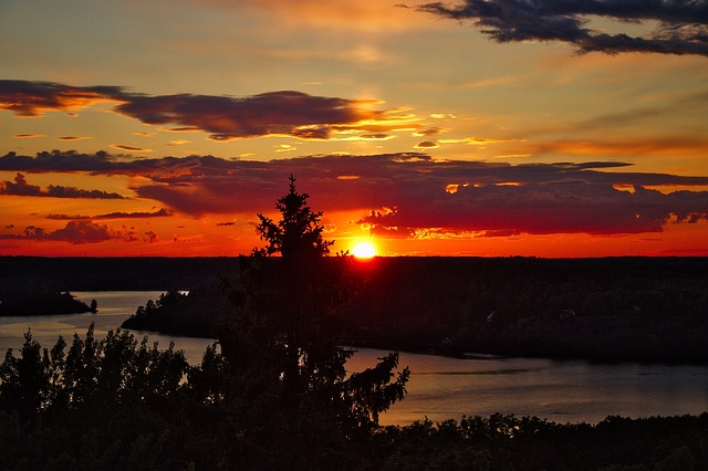 Sunset, Stockholm, Sweden, Photo, Country, The Coast