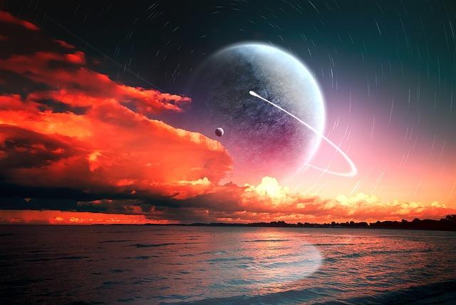Sun, Sunset, Planet, Water, Clouds, Sea, Sun Spots