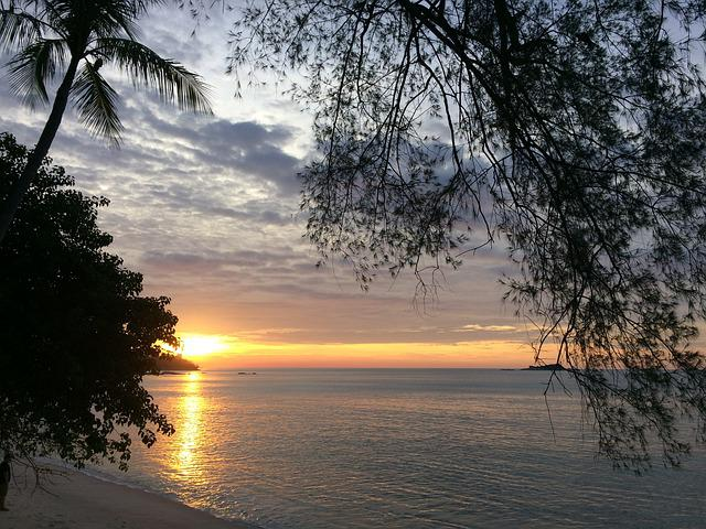 Sunset, Sunset From Nias Island Indonesia