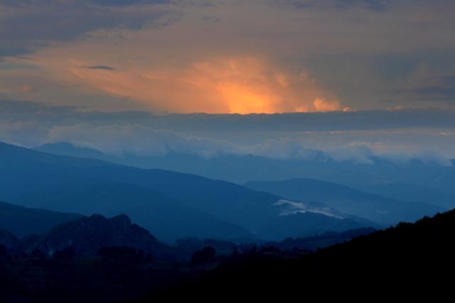 Mountain, Sunset, Top, Cloud, Sky