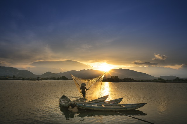 Sunset, Wave, Province, Vietnam, The Fishermen, Natural