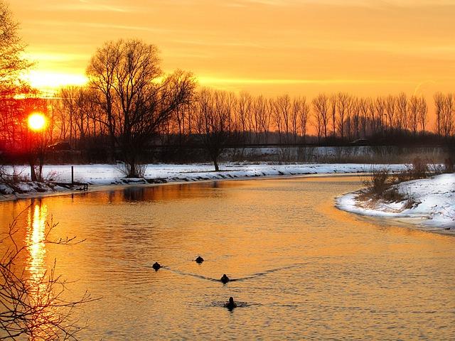 Sunset, Evening Sun, Abendstimmung, Gorgeous, Waters