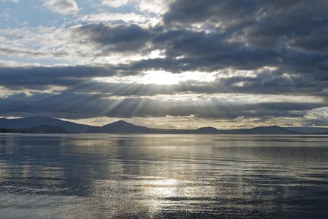 New Zealand, Lake Taupo, Waters, Nature, Sunset