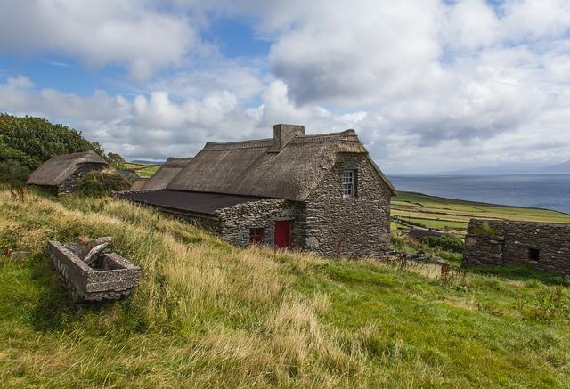 House, Country, Ireland, Summer, Sunshine, Architecture
