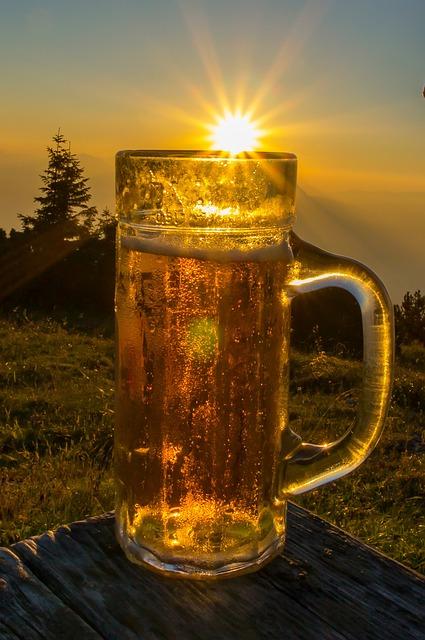 Beer, Sunshine, Mountains, Mountain Hut, Drink