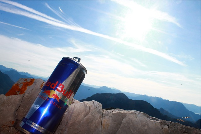 Redbull, Energy Drink, Blue, Sky, Sunshine