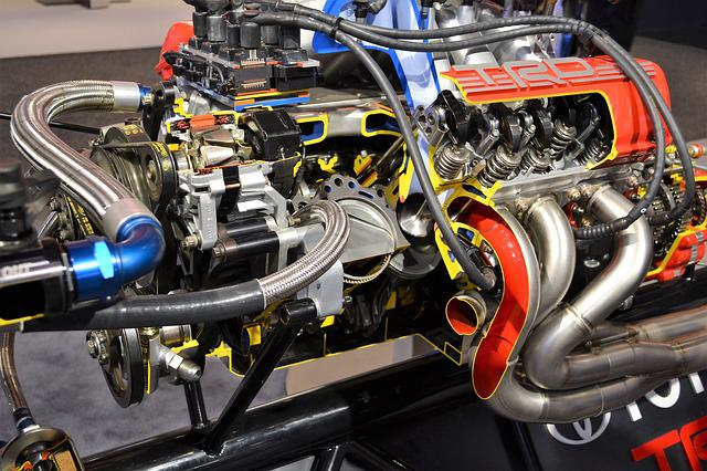 Super Charged Engine, Race Car Engine, Engine