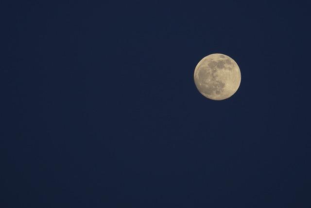 Moon, Full Moon, Super Professional, Night View, Night