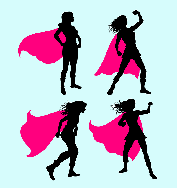 Superhero, Super, Hero, Girl, Costume, Silhouette, Wing