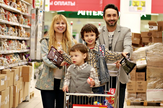 Shop, Supermarket, Grocery Cart, Family, Family Budget