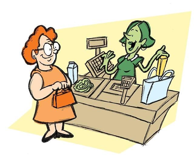 Cashier, Groceries, Supermarket, Store, Customer, Shop