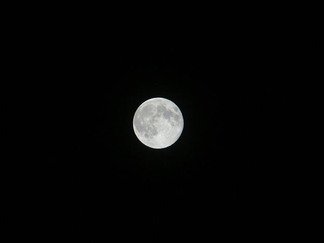 Supermoon, Moon, Night, Sky, Full, Dark, Moonlight