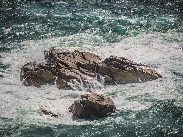 Rock, Sea, Coast, Water, Surf, Rock Formations, Algarve