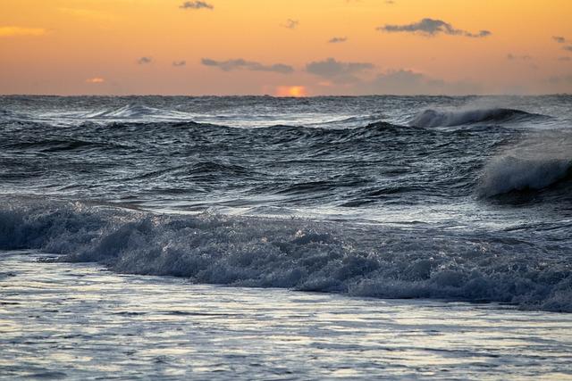Beach, Dawn, Surf, Ocean, Water, Sun, Sunrise, Daybreak