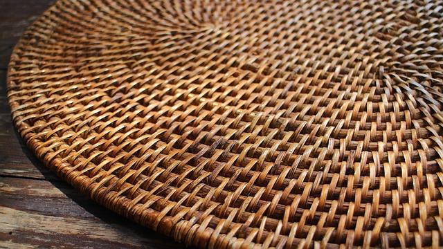 Table Mat, Bamboo, Desk, Surface, Furniture, Texture