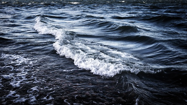 Wave, Sea, Blue, Seaside, Finnish, Nature, Surface