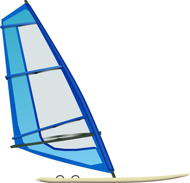 Surfing, Surfboard, Sailboarder, Sailboarding, Blue